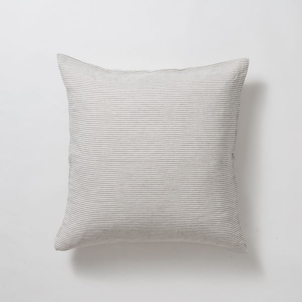 Stripe Linen Euro Pillowcase - Chalk/Ash