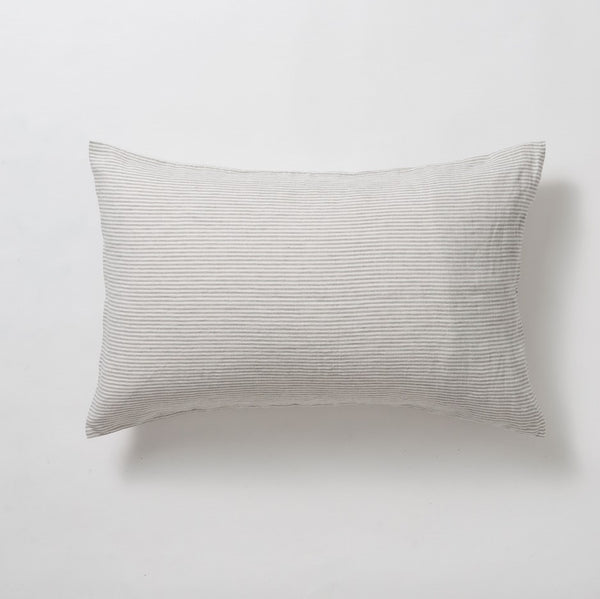 Stripe Linen Pillowcase Set - Chalk/Ash
