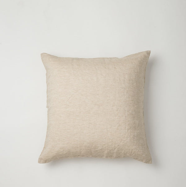 Sove Chambray Linen Euro Pillowcase - Oatmeal