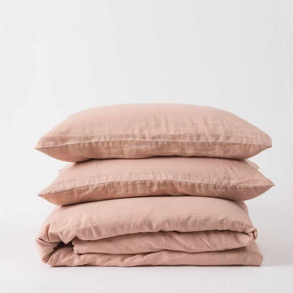 Sove Linen Duvet Cover - Iced Tea Queen