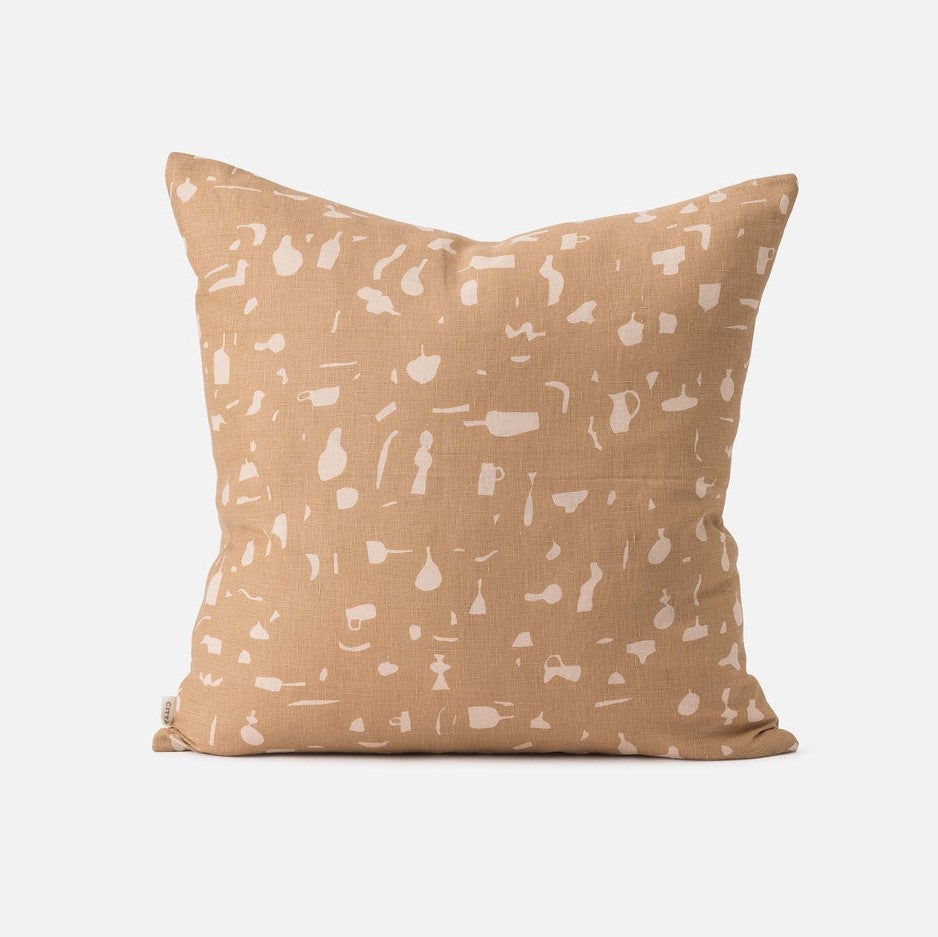 Still Life Cushion - Tea/Biscuit