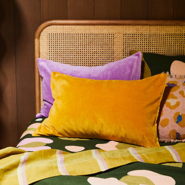 Tanis Velvet Pillowcase - Sunflower
