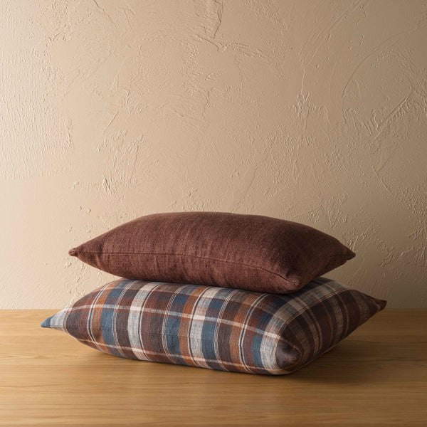 Tasman Woven Cushion - Raisin/Multi