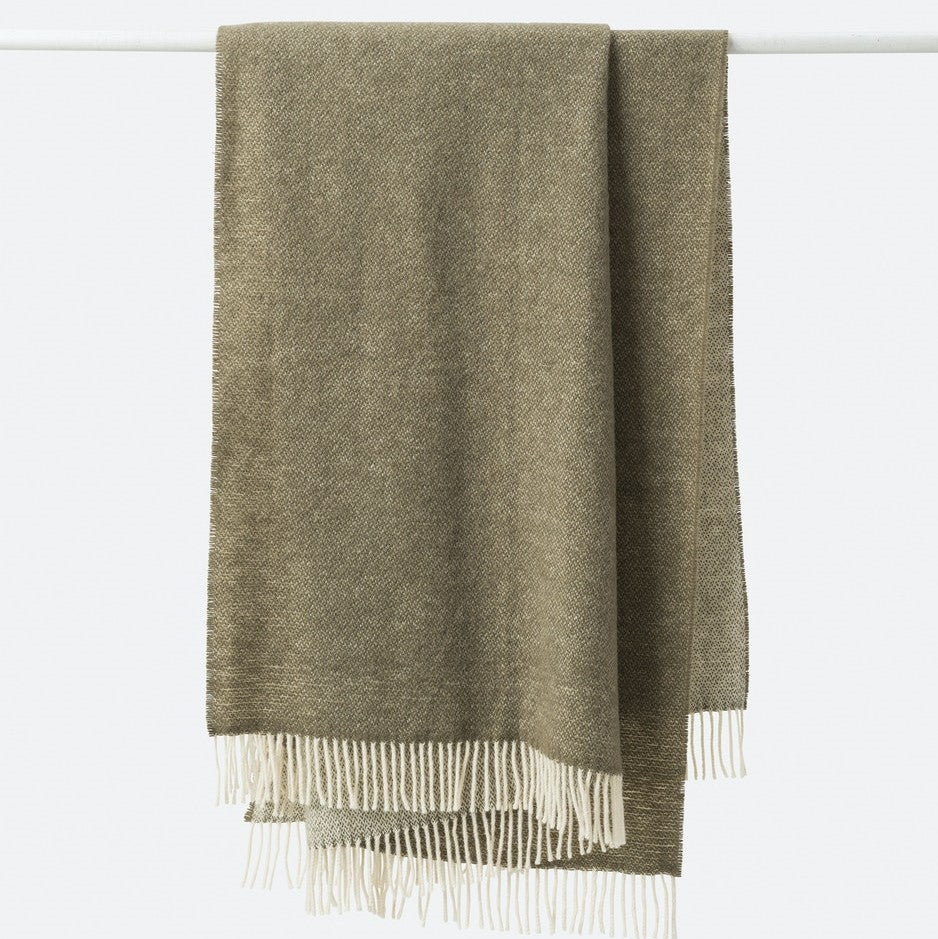 Wool Throw - Matcha