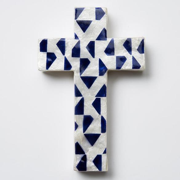 Blue Tri Cross Small
