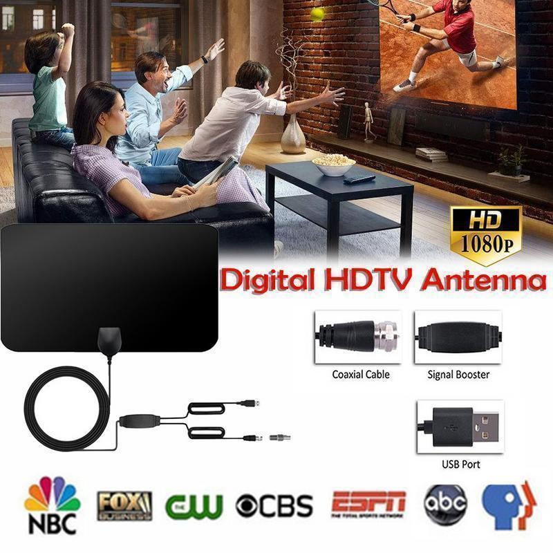 HDTV Free Cable Antenna With Signal Booster(🔥Second one 70% off🔥 )