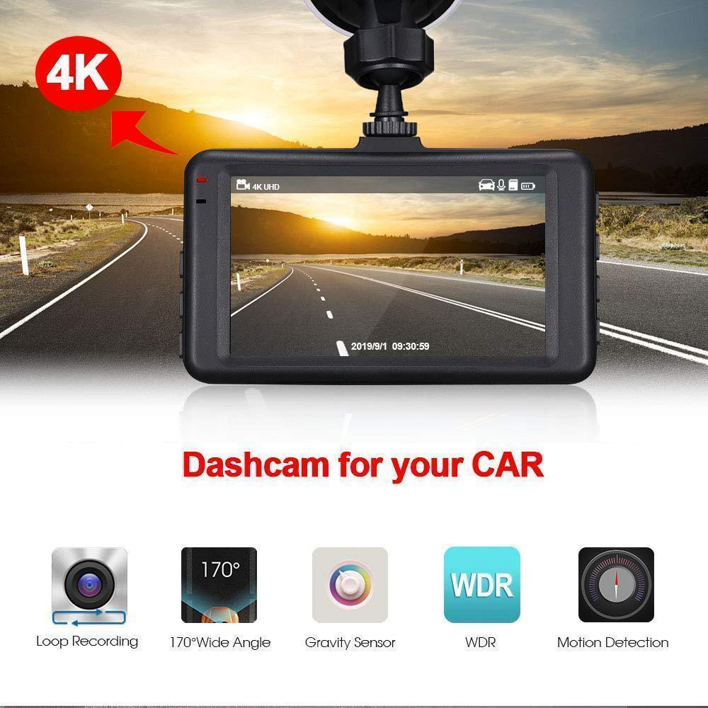 Aukey 4K UHD Car Driving Recorder Camera