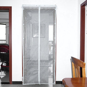 Anti Mosquito Curtain Magnetic Curtains Automatic Closing Door Screen White