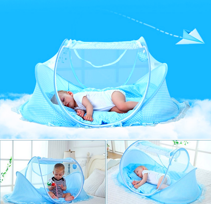Baby Portable Foldable Crib with Net