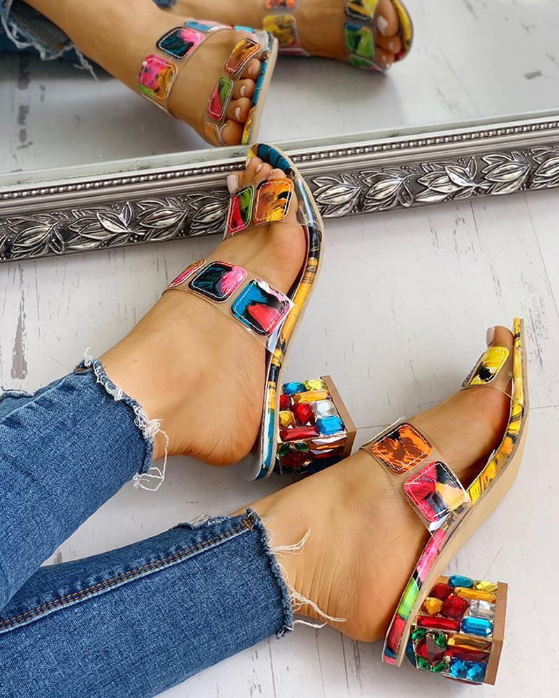 Aphrodite - Multicolored Chunky Sandals