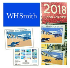 My Seaside poster Art 2018 Calendar in WHSmith stores