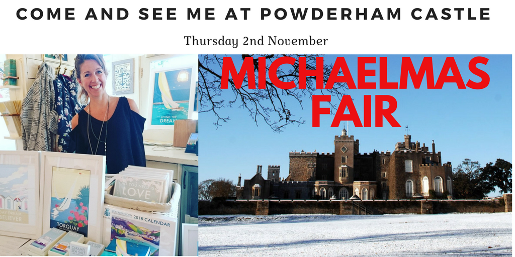 Come and see me at Powderham Castle this Thursday