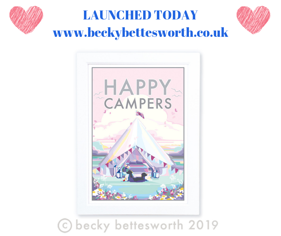 *** NEW PRINT RELEASE - HAPPY CAMPERS ***