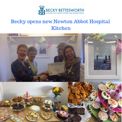 Becky Opens New Kitchen at Newton Abbot Hospital