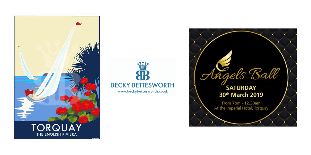 Becky Bettesworth Supports the Angels Ball in Torquay