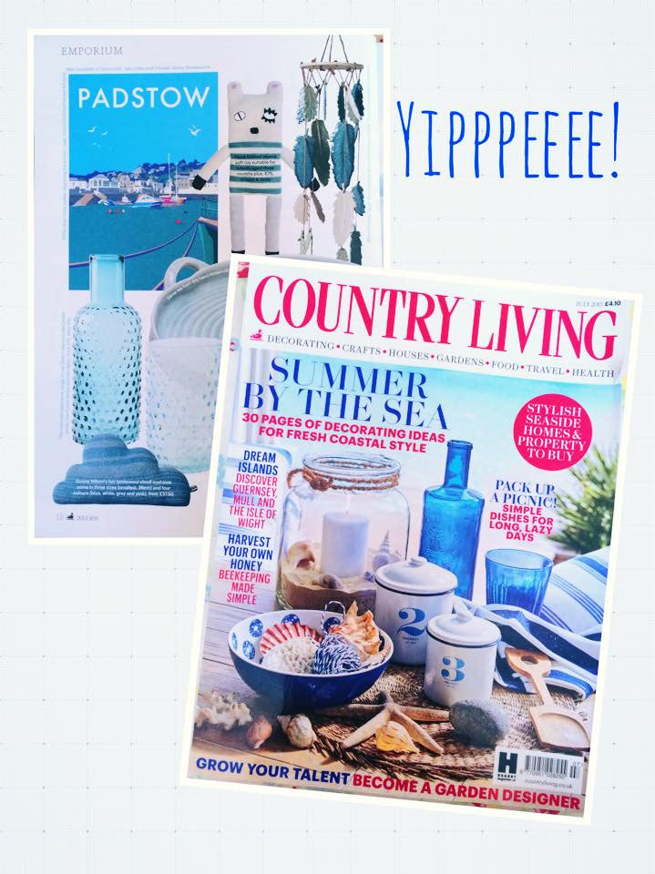 Becky's Padstow seaside picture is featured in Country Living July 2015