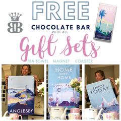 FREE chocolate bar with every gift set sold 💗💗💗