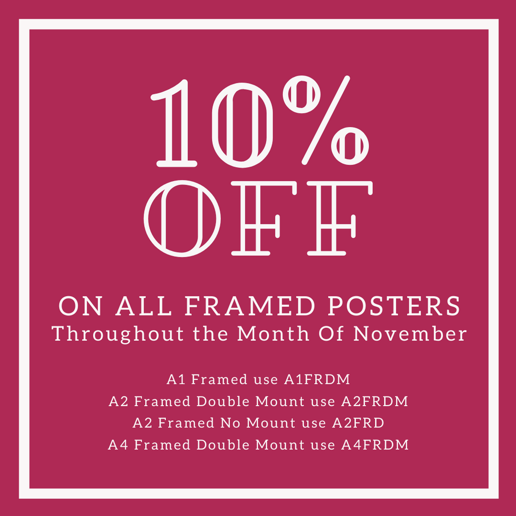 10% OFF ALL FRAMED PICTURES THROUGHOUT NOVEMBER