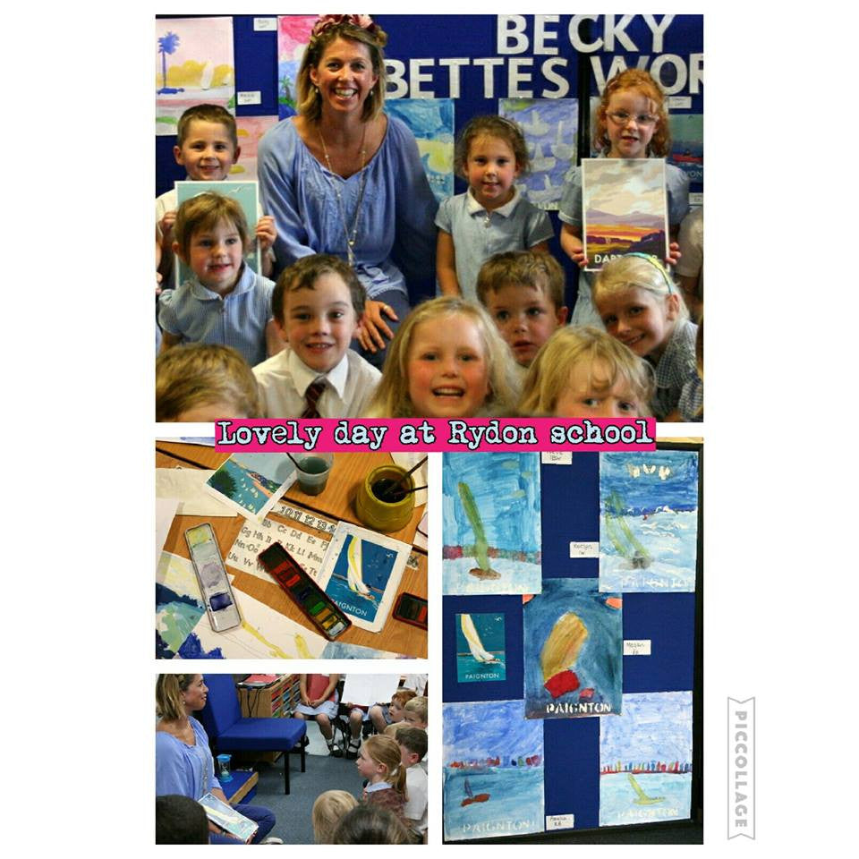 Becky takes part in Art Week at Rydon primary school June 2016