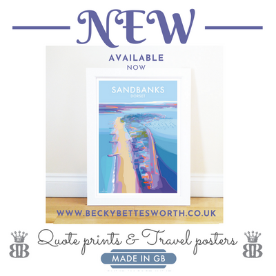 SANDBANKS - NEW TRAVEL POSTER
