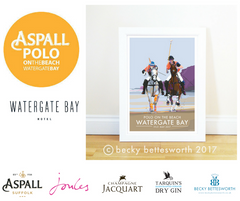 New Polo on the Beach Poster for the Watergate Bay Hotel!