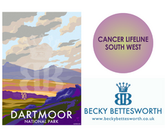 Becky Donates to Cancer Lifeline South West