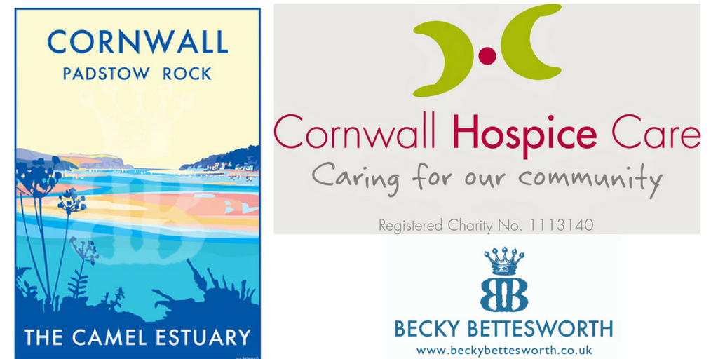 Becky's Donation to help fund the Cornwall Hospice Care