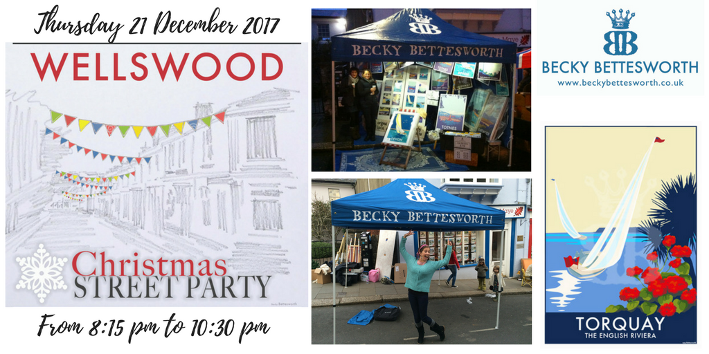 Come and join Becky at the Wellswood Christmas street party on 21 December 2017