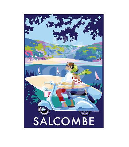 Becky Bettesworth new picture of Salcombe Scooter
