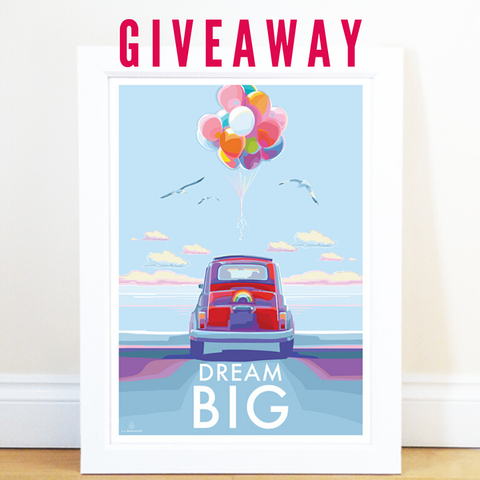 GIVEAWAY offer of Becky Bettesworth Dream Big A4 print