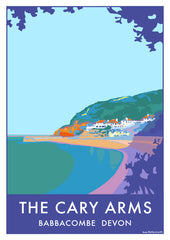 The Cary Arms vintage style travel print and poster