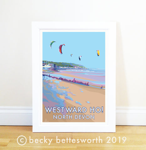 Westward Ho! Becky Bettesworth vintage style travel prints and posters