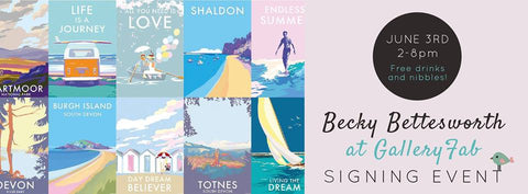 Gallery FAB signing event with Becky Bettesworth