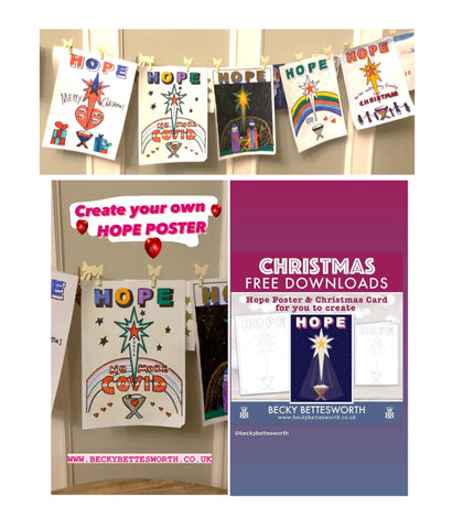 Becky Bettesworth FREE DOWNLOAD HOPE sketch and poster