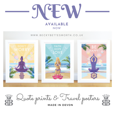 Becky Bettesworth new mindfulness yoga posters