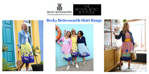 Revival Retro Becky Bettesworth skirt range