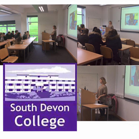 Becky talks to Business students at South Devon College