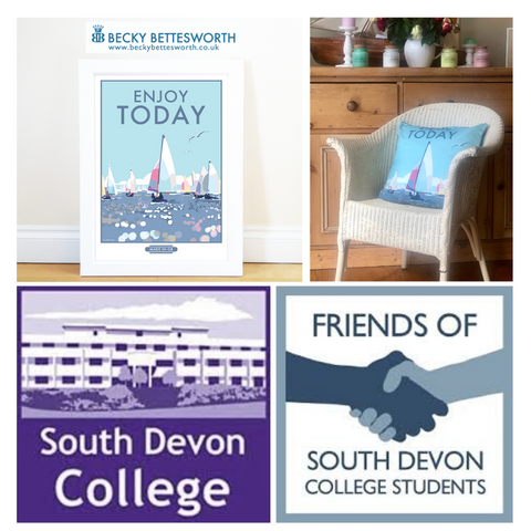 Becky Bettesworth supports Friends of South Devon College