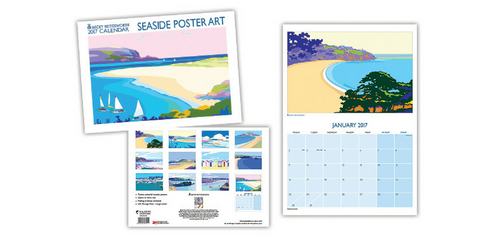 Becky Bettesworth new Seaside Poster Art Calendar 2017