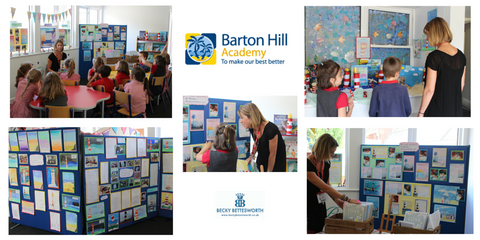 Becky makes a school visit to Barton Hill Academy