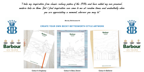 Barbour and Becky Bettesworth drawing campaign