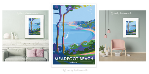 Becky Bettesworth Limited Edition of Meadfoot Beach