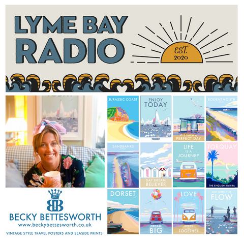Devon artist Becky Bettesworth on Lyme Bay radio
