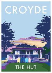 Private Commission of Holiday Home in Croyde, North Devon vintage style travel poster