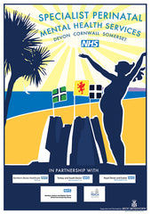 NHS poster for Specialist Perinatal Mental Health Services for Devon, Cornwall and Somerset
