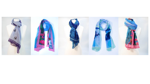 Beautiful voile scarves now available