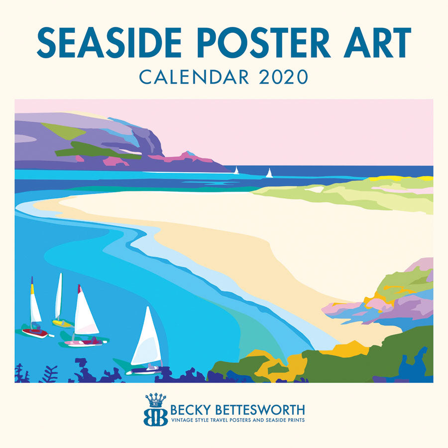 2020 Seaside Poster Art Calendar 12 x 12