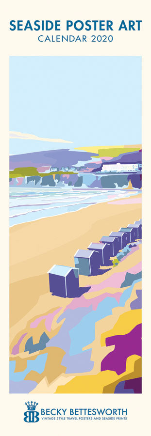 2020 Seaside Art Slim Line Calendar
