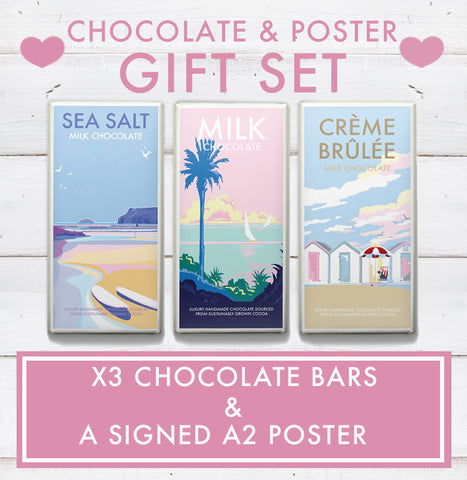 GIFT SET  (x 3 Chocolate Bars and a SIGNED A2 poster)