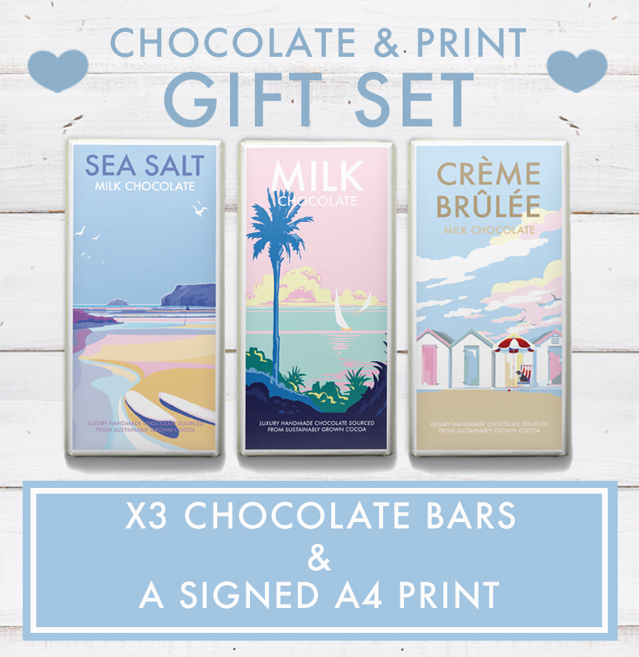 GIFT SET  (x3 Chocolate Bars and a SIGNED A4 print)